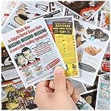 JZLMF Carteles Antiguos Retro, Pegatinas de Maleta de periódico Antiguo, Pegatinas publicitarias para Cuaderno de Estilo Chino, Pegatinas de página de Libro de Skate 38 Uds