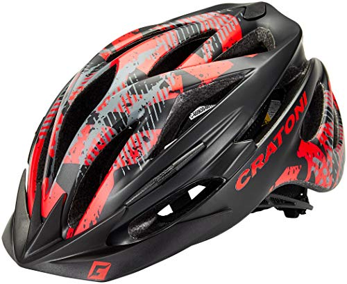 707799VAR - Casco bicicleta ciclismo PACER MTB COLOR NEGRO/ROJO TALLA 54-58