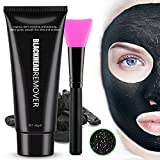 Black MasK Peel Off Mask Blackhead Remover Mask Charcoal Mask, Bamboo Activated Charcoal Face Mask, Deep Pore Cleansing Mask For Face Nose and Acne Treatment With Free Mask Brush 100g