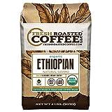Fresh Roasted Coffee LLC, Organic Ethiopian Natural Sidamo Coffee, Whole Bean Bag, Fresh Roasted Coffee LLC. (2 LB.)
