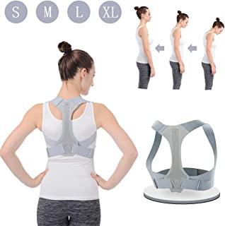 Posture Corrector for Men and Women HOPAI FDA Approved Adjustable Upper Back Brace for Clavicle Support and Providing from Neck-Back-Shoulder-Pain Relief