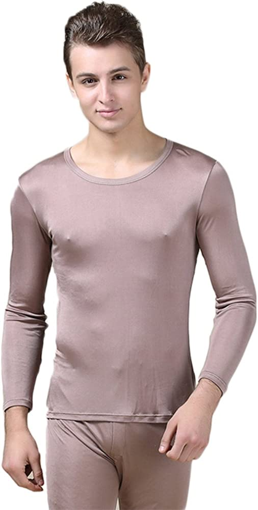 CLC Men's Pure Mulberry Silk Knitted Thermal Underwear Sets