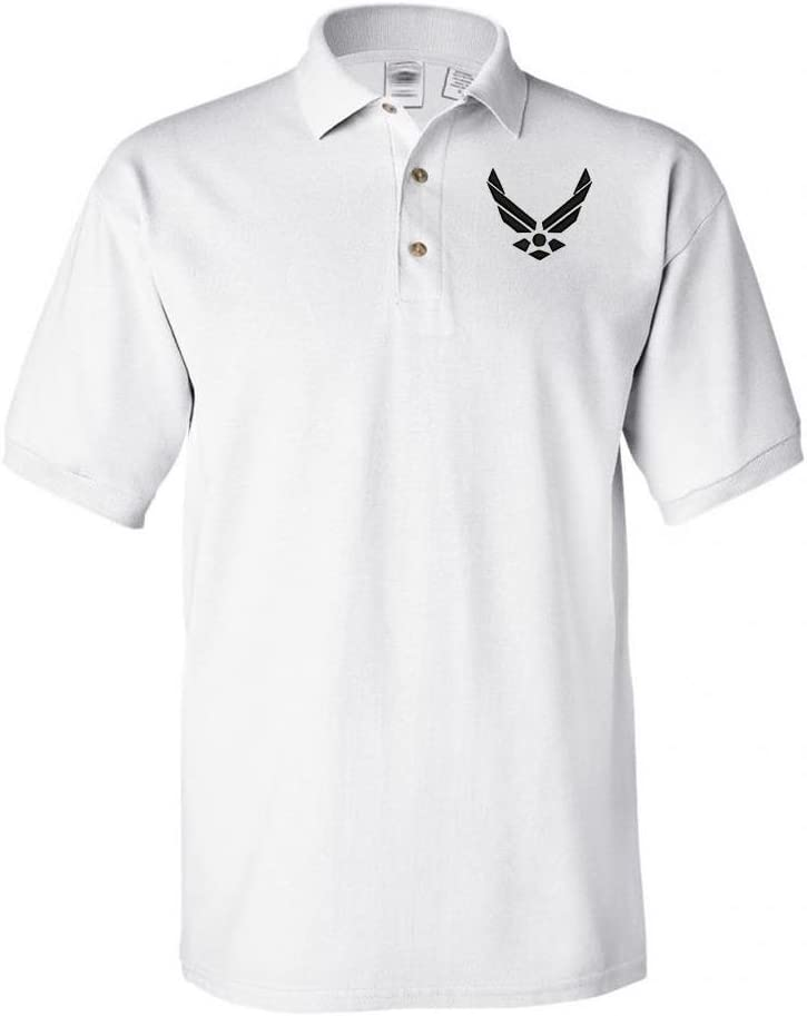 MILITARY Airforce Wing trend rank Polo Shirt Max 53% OFF White