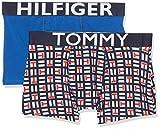 Tommy Hilfiger 2p Trunk Logoblock Bañador, Multicolor (Multi 065), Talla única (Talla del Fabricante: 14-16) (Pack de 2) para Niños