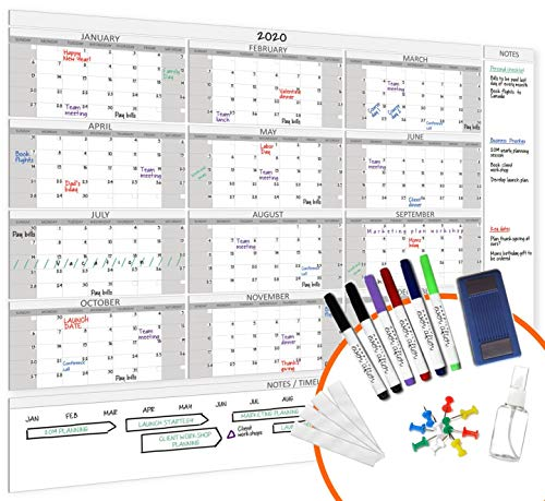 """HEA Large Dry Erase Wall Calendar 2021 58"""" x 48"""" 