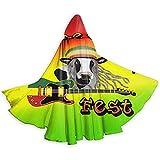 kdu fashion witch cloak,unisex reggae vegan fest logo rasta colori natale halloween strega felpa con cappuccio adulto vampiri matrimonio mantello mantello nero 40x150cm