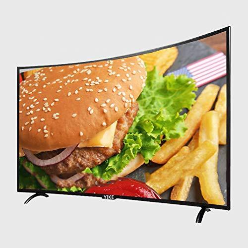 DEMAXIYA Smart TV 4K HD de Superficie Curvada, curvatura Dorada, Calidad de Imagen Ultra Clara, Alto Rendimiento, ángulo de visión Amplio de 178 °, Cuerpo de Metal es más de Gama Alta