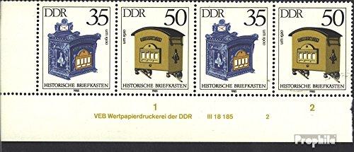 Prophila Collection DDR WZd621DV mit Druckvermerk (kompl.Ausg.) 1985 Briefkästen (Briefmarken für Sammler)