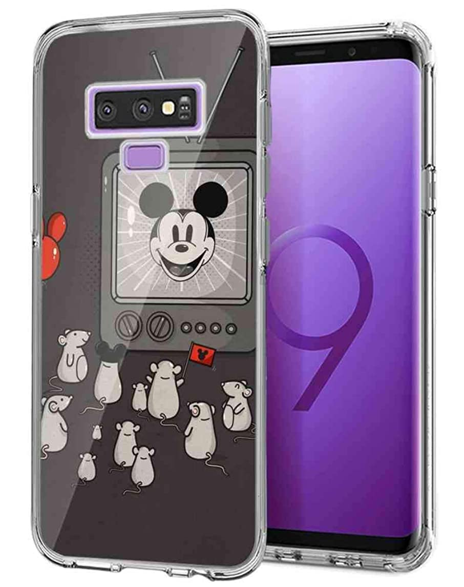 DISNEY COLLECTION for Samsung Galaxy Note 9 (2018) [6.4in] The mice are Watching Mickey Mouse on TV