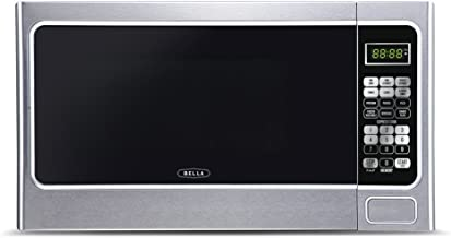 Bella BMO11ABTBKC 1000-Watt Family Sized Digital Microwave Oven, 1.1 cu. ft, Stainless Steel/Black