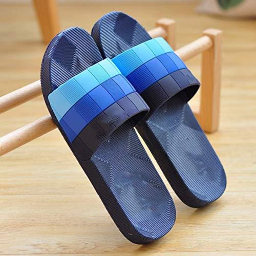 TQJ Apatillas de Baño Antideslizantes Zapatillas De Baño Hombres Flip Flops - Resbalón En Zapatillas, Sandalias Livianas Para Hombres, Chanclas Con Suela De Pvc - Ideal Para Baño De Baño De Baño Sanda