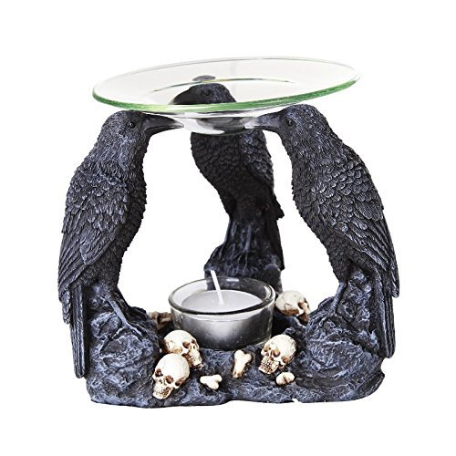 Pacific Giftware Ravens Crow Scented Oil Warmer Diffuser Collectible Figurine