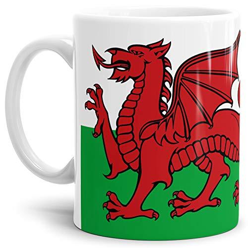 Tassendruck Flaggen-Tasse Wales - Kaffeetasse/Mug/Cup - Qualität Made in Germany