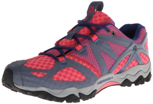Merrell Women's Grassbow Air Trail Running Shoe,Granite/Mint,8 M US