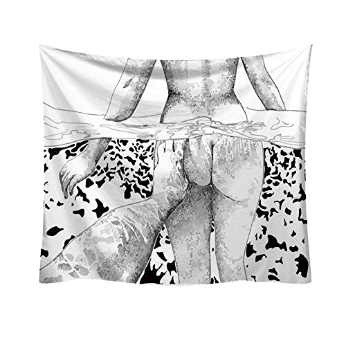 Qmber 2019 Wandbehang Tapisserie Sonnenuntergang Wald Ozean Berge Natur Hausdekorationen Wandteppich zum Wohnzimmer Weißes kleines frisches Buchstabemuster/J