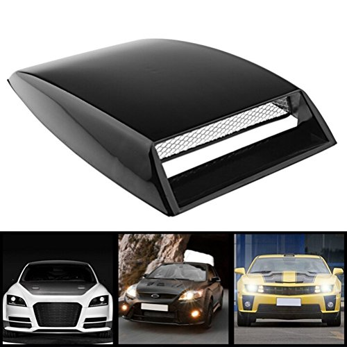 VORCOOL Universal Car Hood Scoop Sport Racing Air Flow Intake Turbo Bonnet Hood Vent Grille Cover (Black)