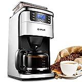 Sooiy Americana Coffe Máquina Totalmente Grinderhogar automático Moler Cuerpo de Acero InoxidableGranos de café cafetera Espresso