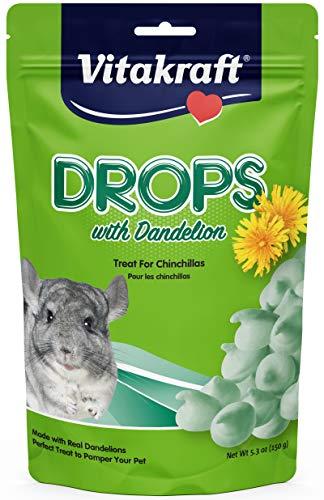 Vitakraft Chinchilla Drops With Dandelion Treat, 5.3 Ounce Pouch