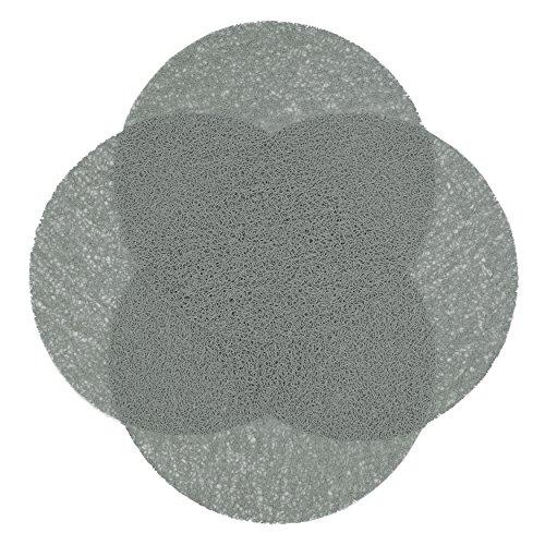 ZOLLNER 4er Set Tischset 38 cm, grau (weitere verfügbar), abwaschbar