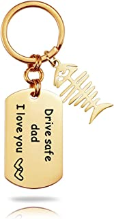 Keychain Thank You for Being The Dad You Didn't Have to Be fishhook Birthday Gifts from Daughter Son