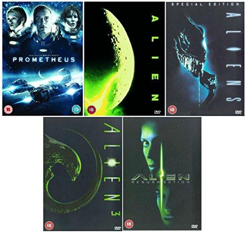 Prometheus to Alien - The Evolution 5 Movie Collection: Prometheus / Alien / Aliens / Alien 3 / Alien Resurrection