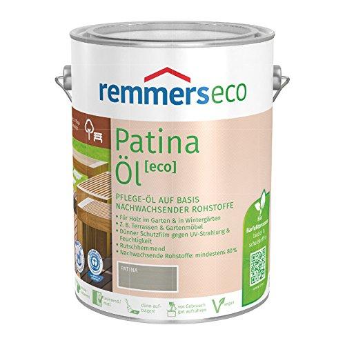 Remmers Gartenholz-Öle [eco] Holzpflege Möbelpflege (5 l, Patina-Öl)