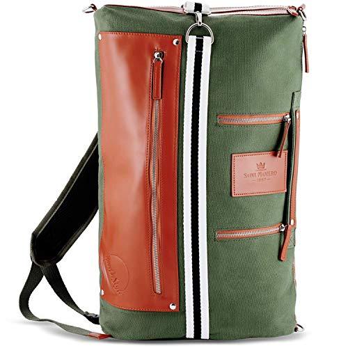 Saint Maniero Rucksack Damen Rucksack Herren Schulrucksack Mädchen Schulrucksack Jungen Laptop Backpack Tagesrucksack Daypack Laptoprucksack Uni Rucksack Uni Tasche Schultaschen (Oliv-Grün)