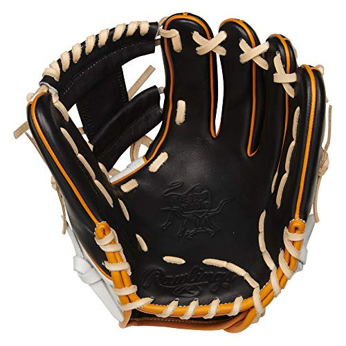 Rawlings Heart of The Hide R2G Baseball Glove, White/Black/Tan, 11.5 inch, Pro I Web, Right Hand Throw