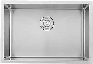 VOKIM 26 Inch Undermount Deep Single Bowl 16 Gauge R10 Tight Radius Stainless Steel Kitchen Sink ,Bar or Prep Kitchen sink