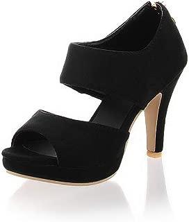 BalaMasa Womens ASL06873 Pu Platform Heels