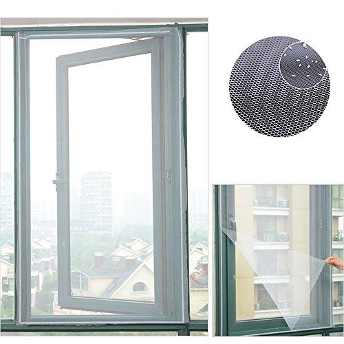Mosquitera magnética para ventana, mosquitera Invisible y tallado con velcro para protección de insectos 150?x 130?cm