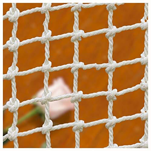 XXN Seilnetz 12mm,Spielplatz Baum Klettern Outdoor-Schaukel das Ältere Kind Erwachsene Net Geländer Treppe Dekoration Zaun Frachtfestes Nylonseil Container Riesen-Hochleistungs-Decksnetz