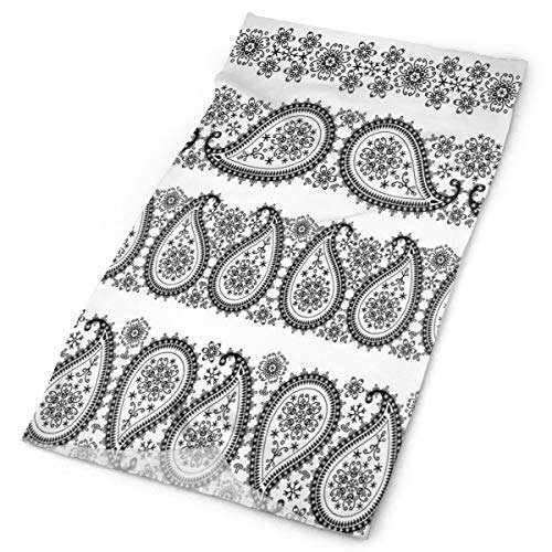 GUUi Headwear Headband Head Scarf Wrap Sweatband,Winter Themed Design And Lace Like Ornaments With Flowers And Snowflakes,Sport Headscarves For Men Women