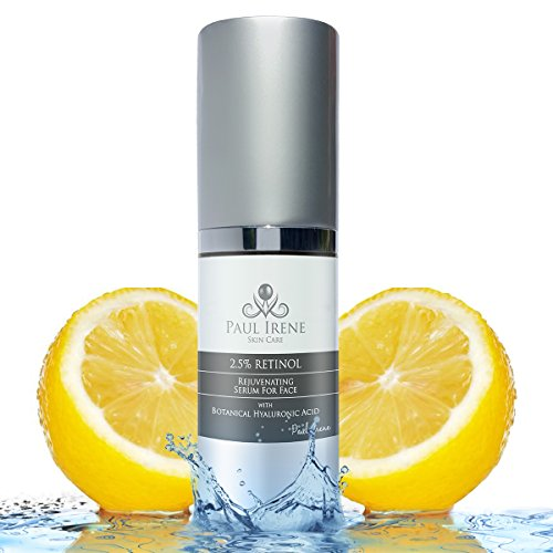 ADVANCED Serum for Face 2.5% Retinol, 27% Hyaluronic Acid, Vitamin E Oils to get Rid of Wrinkles, Age Spots, Fine Lines, Acne. DEEP HYDRATION for SOFT Skin in JUST 48 Hours! BEST RESULTS 1 Oz.