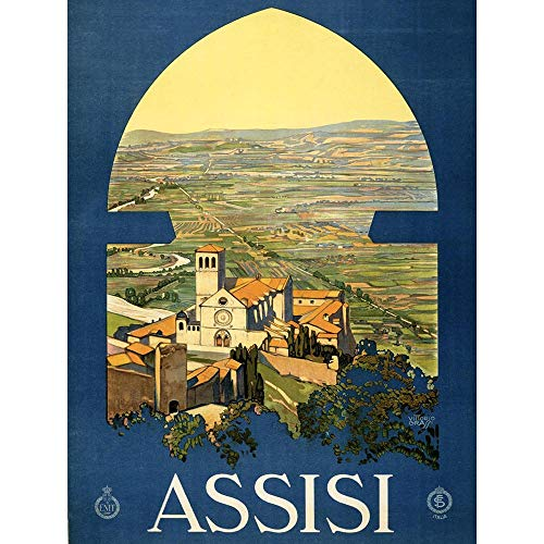 TRAVEL TOURISM ASSISI ITALY UMBRIA COUNTRY CHURCH NEW FINE ART PRINT POSTER PICTURE 30x40 CMS CC2919