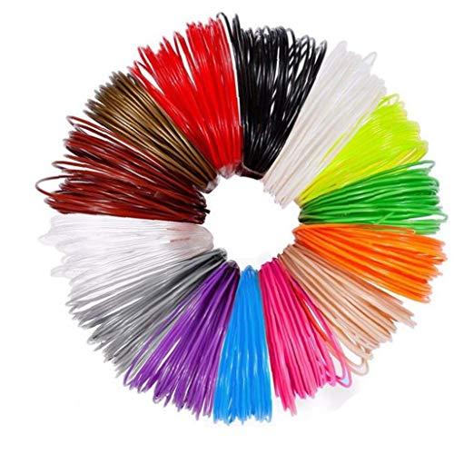 3D Pen Refills High Temperature 1.75MM PLA 3D Printer Filament Refills Different Colors 12PCS Durable