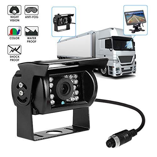 LKW-Rückfahrkamera, Maso Rückfahrkamera IR Nachtsicht Auto-Backup-Einparkhilfe für LKW-Anhänger
