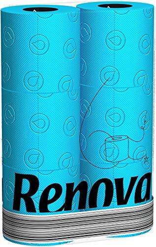 Renova Toilettenpapier, Blau, 3 Packungen mit 6 Rollen