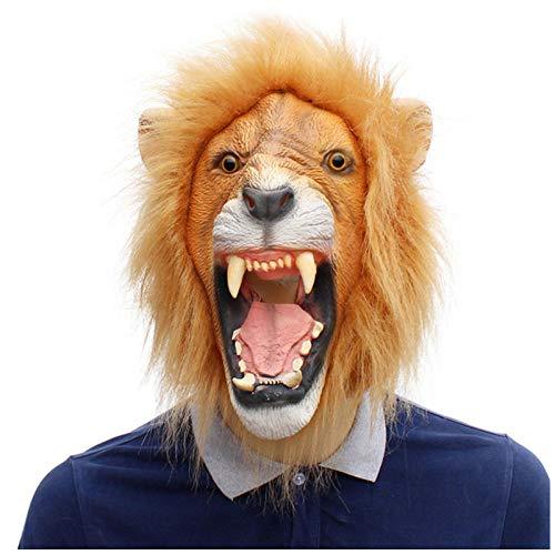Maschere di Leone Costume Maschera di Lattice Testa di Animale Maschera Festa di Halloween Cosplay Masquerade Puntelli fotografici