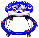 ODELEE Catty Musical Baby Activity Foldable Baby Walker for Kids with Music and Light Age 6 Month+ (Blue)