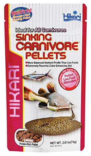 Hikari Sinking Carnivore Pellets for Pets, 2.61-Ounce
