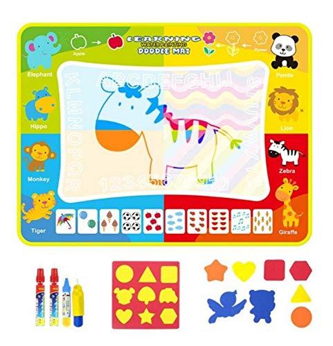 Indoor Spielzeug Kinder Magie Wasser Leinwand Schrift Decke Früherziehung Puzzle Graffiti Malerei Reißbrett 80x60cm