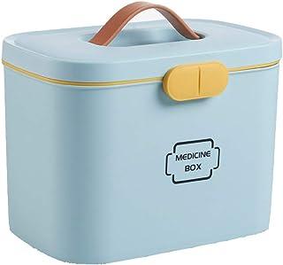 SJWR Boîte de Premiers Soins portative de boîte de médecine de Stockage de ménage, poignée de Transport, Courroie de Trans...