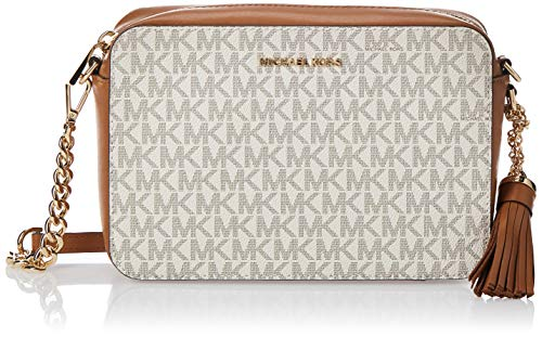Michael Kors Womens Crossbody Handtasche, Weiß (Vanilla), 15x10x5 Centimeters (W x H x L)