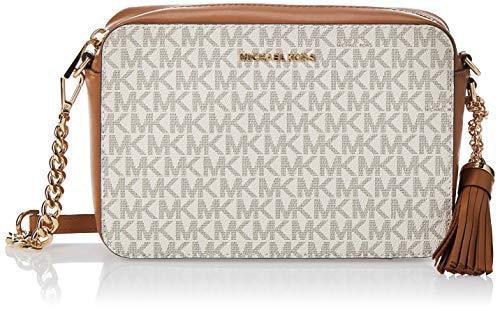 Michael Kors Crossbody, Bolso Bandolera para Mujer, Blanco (Vanilla), 15x10x5 centimeters (W x H x L)