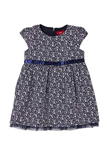 s.Oliver Junior Baby-Mädchen 405.10.011.20.200.2062154 Kleid für besondere Anlässe, Blue, 80