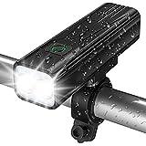 Babacom Luz Bicicleta, Luces Bicicleta USB Recargable con 5 Modos, Linterna Delantera Bicicleta IPX5 Impermeable, Foco Bicicleta LED Alta Potencia para Ciclismo de Carretera Seguridad en La Noche