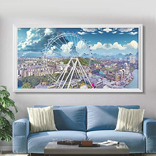 GIYL elektrische verwarming schilderij platte panel heater muur warm schilderij Far infrarood verwarming voor slaapkamer woonkamer kantoor 1200W H