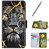 URFEDA Cover Compatibile con Huawei P30 Lite Custodia Pelle Cover Retro Flip Case Colorato...