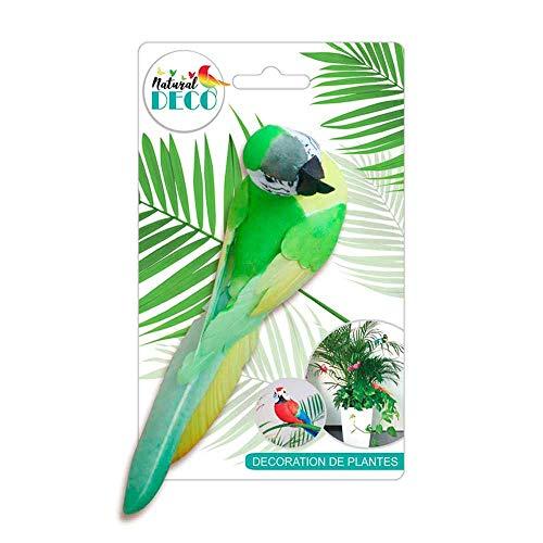 STC Déco Plantes – Grand Oiseau Vert CD3822